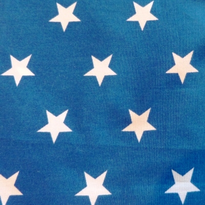 Blue with White Star (Movie Star) Bandana Fabric