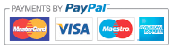 We accept PayPal, Mastercard, Visa, Maestro and American Express