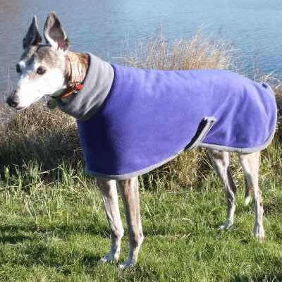 new zealand Greyhound Coats Fleece In Purple and Charcoal